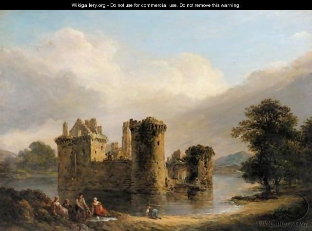 A Family Picnic In Front Of Loch Leven Castle, Kinross - Alexander Nasmyth