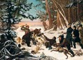 The Tsarevich Alexander's Bearhunt On The Outskirts Of Moscow - Otto Grashof