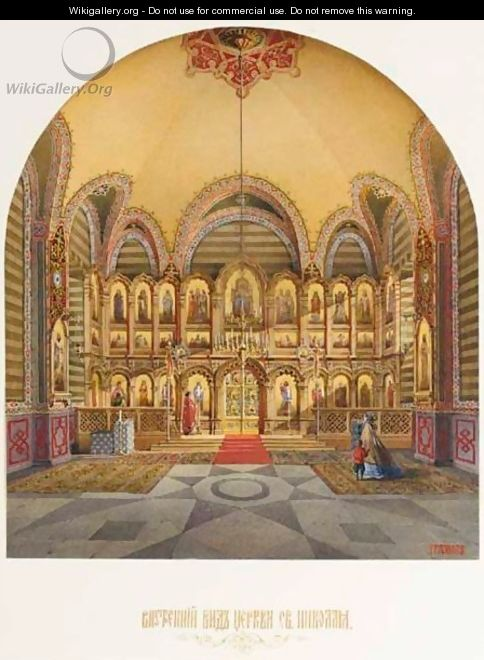 Interior Of The Church Of Saint Nicholas - Vasily Vasilievich Griznov