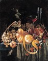 A Still Life Of Grapes, Apricots, Plums, Cherries And A Peeled Orange, Together With Glasses On A Table - (after) Jan Davidsz. De Heem