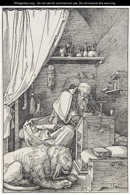St Jerome In His Cell - Albrecht Durer