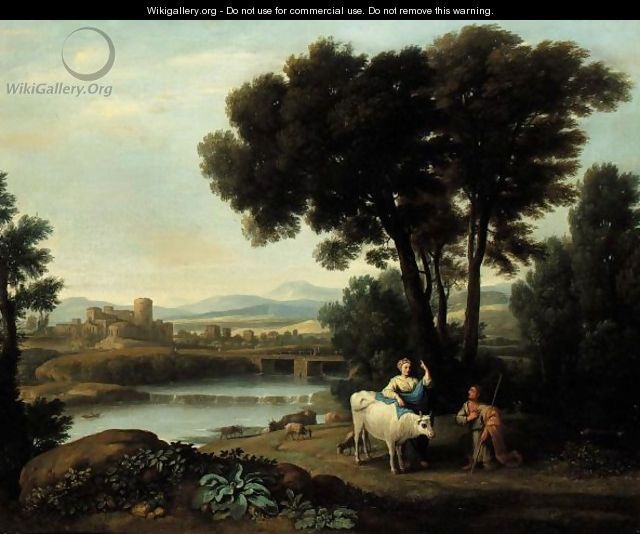 A Landscape With Juno Putting Io Under The Care Of Argus - (after) Claude Lorrain (Claude Gellee)