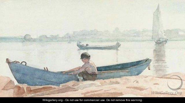 Boy With Blue Dory - Winslow Homer