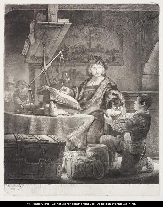 Jan Uytenbogaert, The Goldweigher - Rembrandt Van Rijn