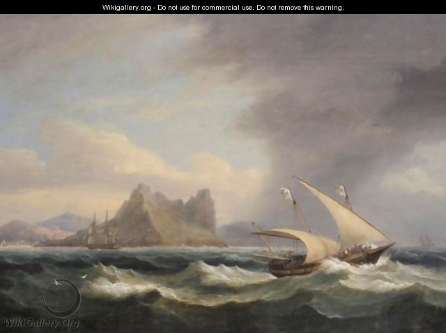 Shipping Off A Mountainous Coast In Stormy Seas - Thomas Luny