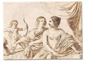 Mars, Venus and Cupid - Giovanni Francesco Guercino (BARBIERI)