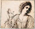 Study of a young woman - Giovanni Francesco Guercino (BARBIERI)