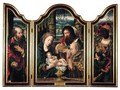 A Triptychcentral Panel The Adoration Of The Magi - left Wing Saint Joseph - right Wing Balthasar - Pieter Coecke Van Aelst