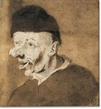 Study of an old man in hat - Cornelis Dusart