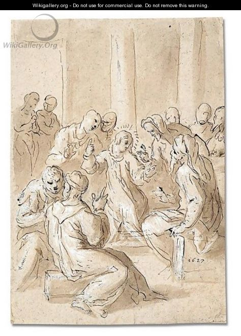 Christ disputing with the doctors - Jacopo d