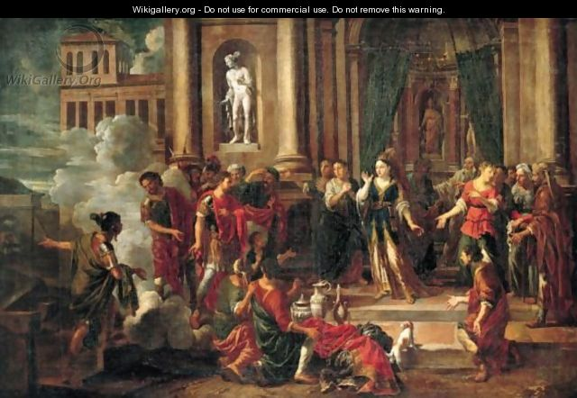 dido and aeneas in the temple johann heiss wikigallery