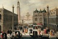 Venice, A View Of The Piazzetta And The Palazzo Ducale - (after) Louis De Caullery