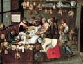 The Tax Collectors - (after) Pieter The Younger Brueghel