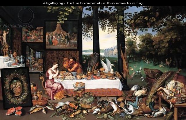 An Allegory Of The Sense Of Taste - Jan, the Younger Brueghel