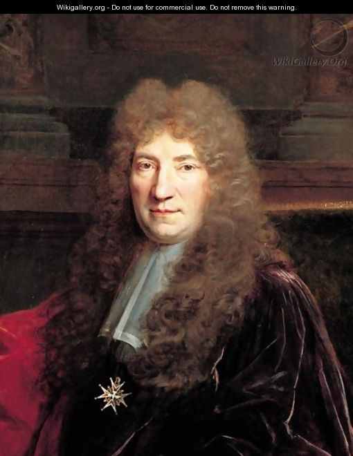 Portrait Of An Echevin, Half Length, Wearing The Order Of The Saint-Esprit - Nicolas de Largilliere