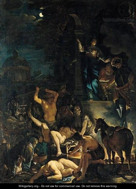 A Scene Of Witchcraft - Domenicus van (Ascanius) Wijnen