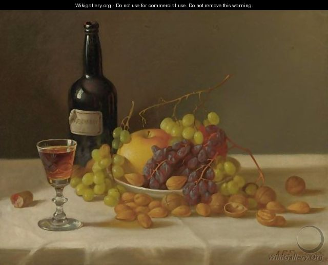 Still Life Fruit And Wine Glass - John Francis