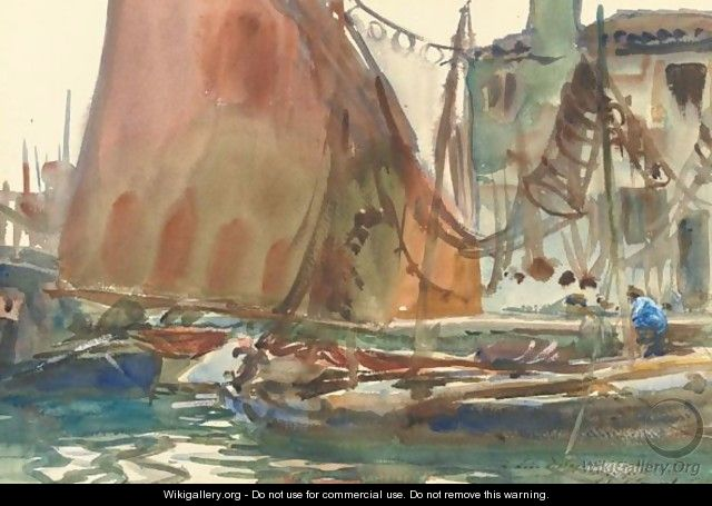 Drying Sails - John Singer Sargent