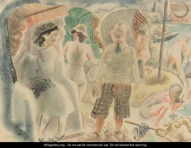 Ostseestrand Prerow (Baltic Sea Beach Prerow) - George Grosz