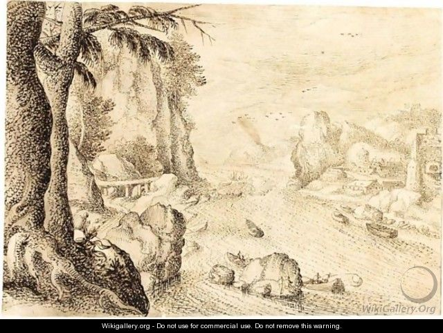 Mountainous River Landscape - Flemish School