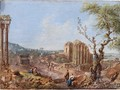 Landscape With Ruins And Figures - Italian School