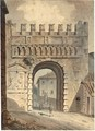 An Italian Town Gate - (after) Victor-Jean Nicolle