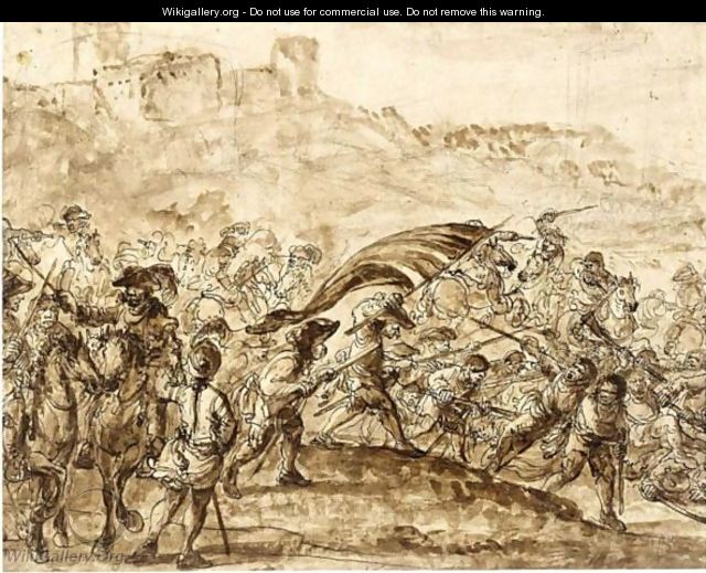 A Battle Scene - Francesco Simonini