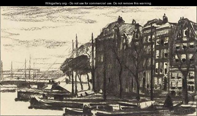 A View Of The Binnenkant, Amsterdam - Willem Witsen