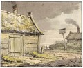 A Cottage Near A Country Road - Anthonie Andriessen