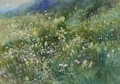 An Alpine Meadow Of Wildflowers - John MacWhirter