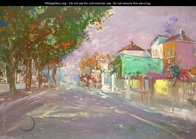 Street Scene In The Suburbs Of Paris - Konstantin Alexeievitch Korovin