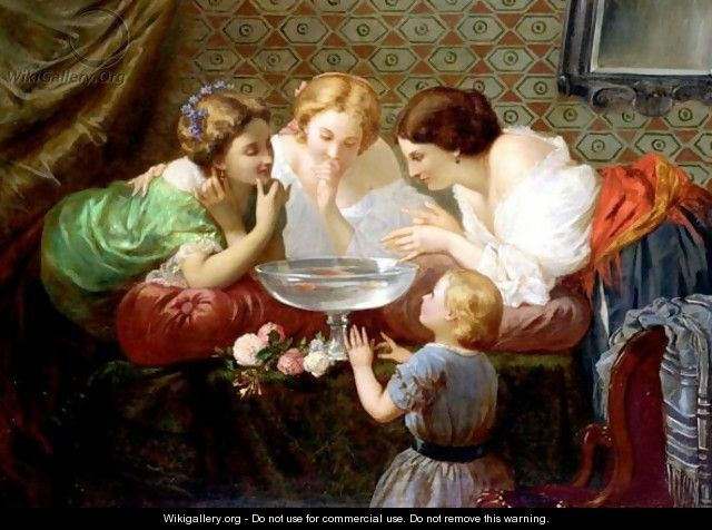 Watching The Goldfish - Henri Pierre Picou