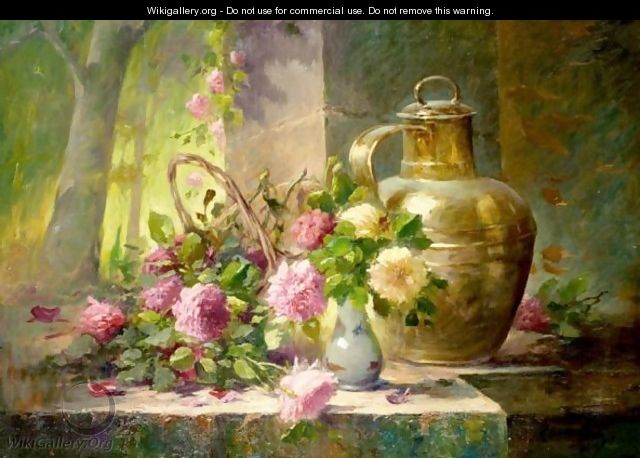 Still Life Of Flowers - French School