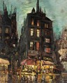 View Of The Rue De Venise, Paris - Konstantin Alexeievitch Korovin