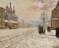 A Winter Morning On The Malaya Dmitrovka In Moscow, By The Gates Of The Strasnoi Monastery - Paul Louis Bouchard