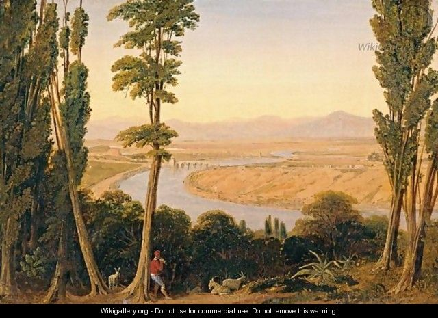 View Of The Tiber River And The Roman Campagna From Monte Mario - William Linton