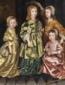 Portrait Of Four Children - (after) Gerard Soest