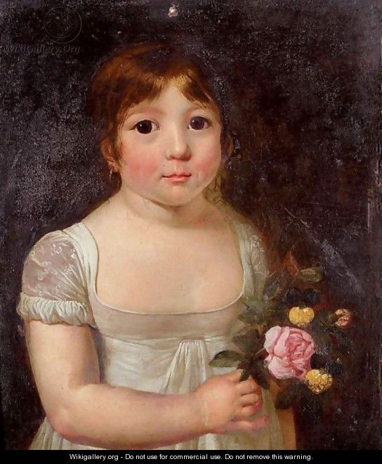 Portrait Of A Young Girl - Jacques Laurent Agasse