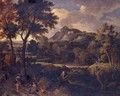 Arcadian Landscape With Classical Figures On A Path - (after) Gaspard Dughet