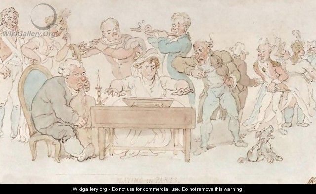 Playing In Parts - Thomas Rowlandson