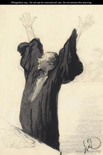 LA avocat Pathetique - Honoré Daumier