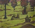 Ein Bewaldeter Hugel (Wooded Hill) - Koloman Moser