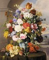 Rosen Und Tulpen In Blau-Weisser Vase (Roses, Tulips And Other Flowers In A Blue And White Vase) - Anton Hartinger