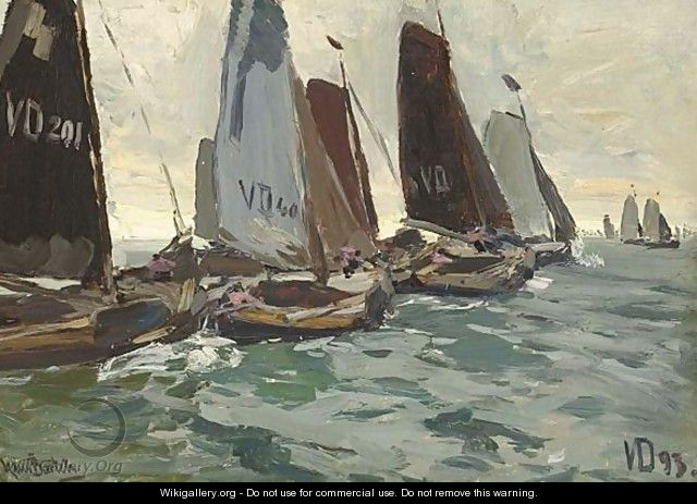 Volendam Sailing Vessels At The Zuiderzee - Hans Von Bartels
