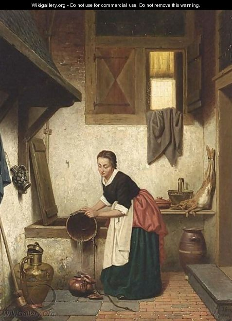 A Woman In An Interior - Charles Joseph Grips