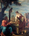 Christ And The Woman Of Samaria - (after) Sebastiano Ricci