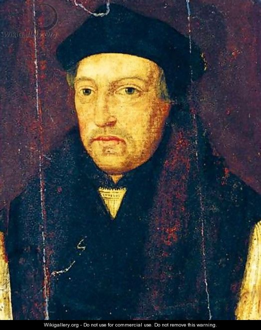 Portrait Of Thomas Cranmer - (after) Holbein the Younger, Hans
