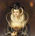 Portrait Of Mary Queen Of Scots (1542-1586) - (after) Isaac Oliver