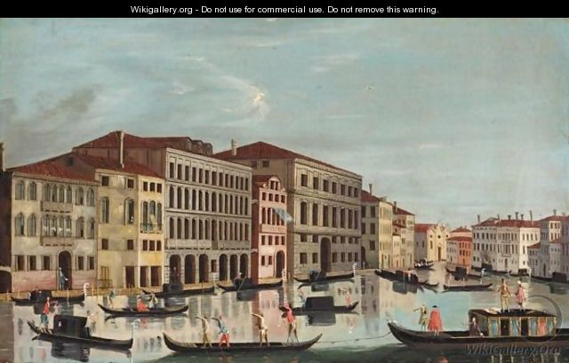 Venice, A View Of The Grand Canal - Venetian School