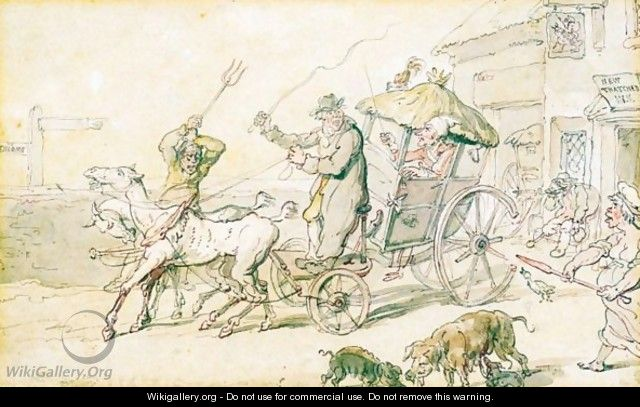 Posting In Ireland - Thomas Rowlandson